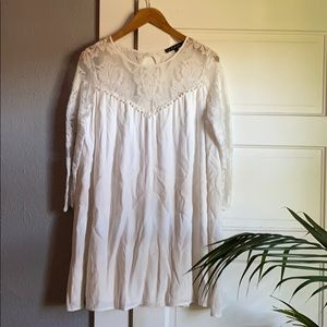 For Love and Lemons White Lace mini dress